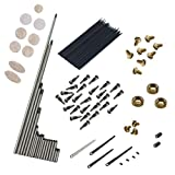 Jili Online Alto Sax Repair Set Springs+Screws+Key Buttons Inlays for Saxophone Replacement Parts