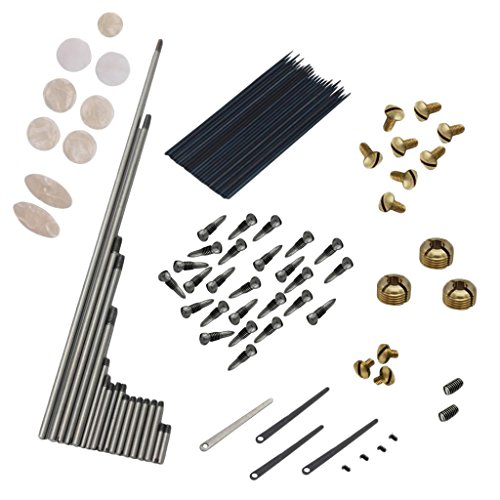 Jili Online Alto Sax Repair Set Springs+Screws+Key Buttons Inlays for Saxophone Replacement Parts by Jili Online