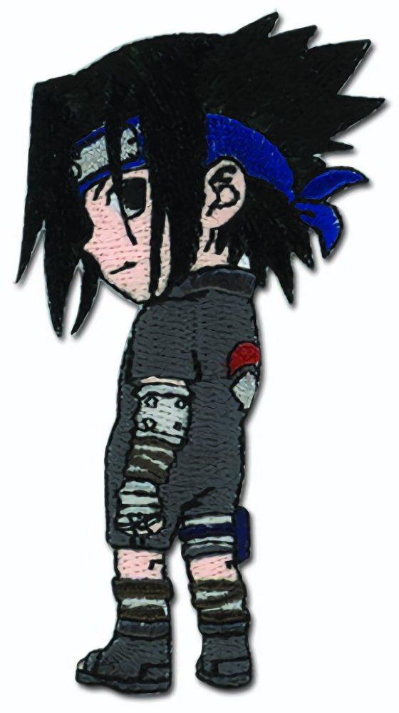 Traje Naruto Chibi Sasuke Sharingan Negro Parche: Amazon.es ...