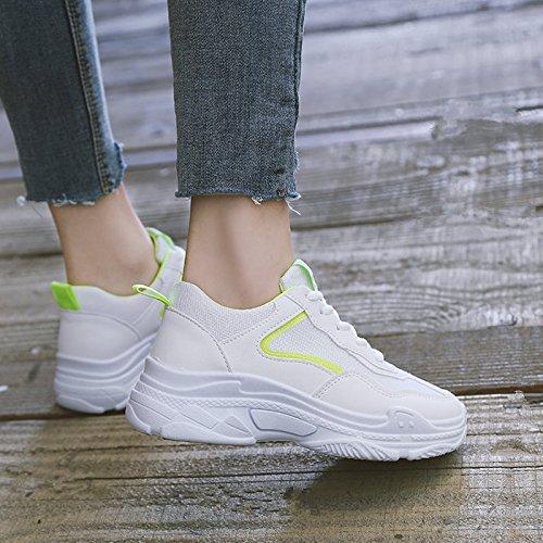 Viejos Deportes Zapatos Zapatos Blancos Pequeños Los Zapatos Mujer Zapatos Gruesa verdes Los V De Virtudes GAOLIM TvqAp