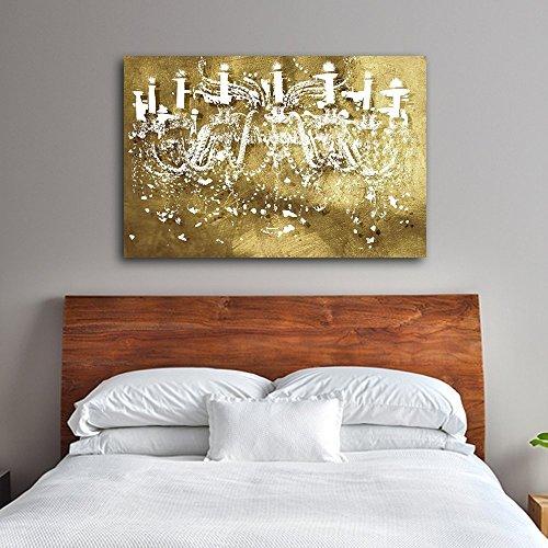 Chandelier Decoration Decorpiece Canvas Stretched