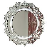 Cheap Indian Shelf Handmade Decorative Glass Engraved Border Round Venetian Mirror Online