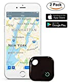 Kingcenton 2 Pack Key Finder Trackable Tag, Phone Finder with Bluetooth Remote Control, Mini GPS Locator Tracker Device [0-30M Anti-Theft Burglar Alarms] for Cars Hidden, Wallet, Pets,Keychain,luggage
