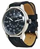 Mil-Tec Vintage Style WW2 Pilot Watch with Black Leather...