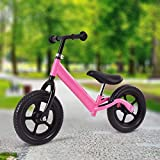 Costzon Balance Bike, 12-Inch Classic Lightweight No-Pedal Walking Bicycle w/Height Adjustable Seat and Handle, for Kids and Toddlers Age 2-7 (Pink)