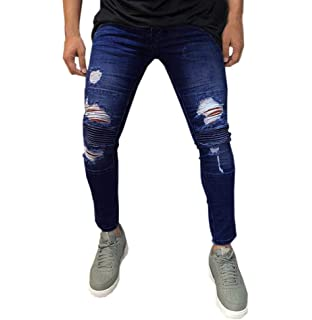 Tomatoa Herren Designer Chino Jeans Hose Stretch Jeanshose Skinny Fit  Blau Schwarz Freizeithose Chinos Denim 495442aa5a