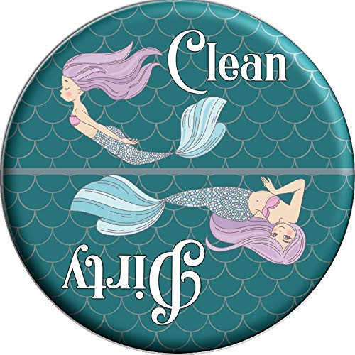 Mermaid Clean/Dirty Magnet Dishwasher Reminder 2.25 Inch Round