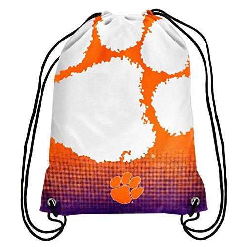 (2016 NCAA College Team Logo Drawstring Backpack Bag - Pick Team (Clemson Tigers))
