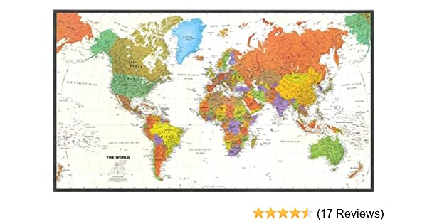 Amazon contemporary world map tyvek paper office products amazon contemporary world map tyvek paper office products office products gumiabroncs Image collections