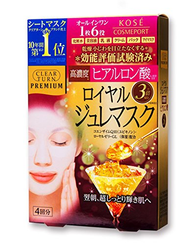 KOSE COSMEPORT CLEAR TURN Premium Royal Jelly Mask (Hyaluronic acid) Premium Royal Jelly