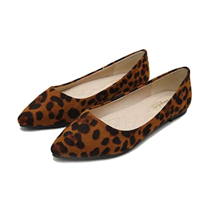 7d04ccdb1113 Amazon.com: Kyle Walsh Pa Women Trendy Flats Shoes Pointed Toe Leopard  Print Ladies Soft Casual Moccasins: Sports & Outdoors