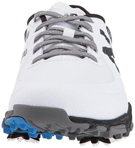 New Balance Men's Minimus Tour Waterproof Spiked Comfort Golf Shoe, White/Black, 11 2E 2E US