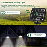 1600LM LED Solar Security Light Outdoor, Solar