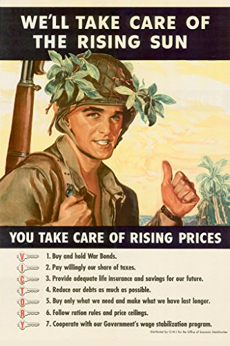 WPA War Propaganda Well Take Care Of The Rising Sun VICTORY Poster 12x18