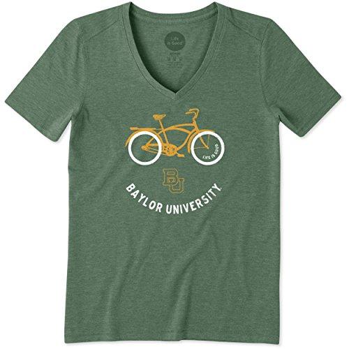 Life is Good Chupete de Playa para Mujer Cool Vee, Verde (Sport Dark Green), Large