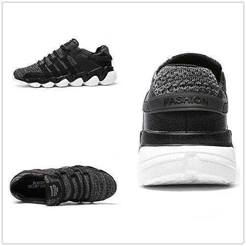 Weien Laufschuhe Herren Sneaker Sport Running Straßenlauf Gymnastikschuhe Schwarz Grau Weiß 39-46 Grau