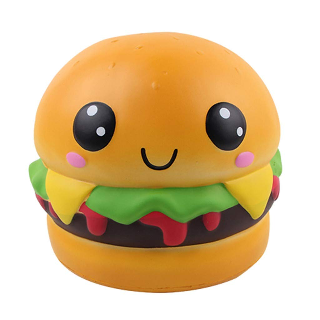 Naiflowers Jumbo Toys, Adorable Squishies Kawaii Hamburger Squeeze Toys Slow Rising Cream Scented Stress Relief Toy, Best Gift Babies Kids Adults Autism Anxiety More (Multicolor)