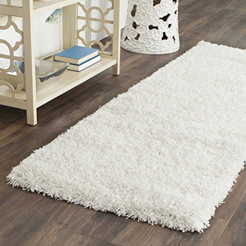 Safavieh California Premium Shag Collection SG151-1010 White Area Rug (2'3