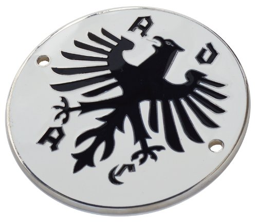 German Auto Body - ADAC German Auto Club enamel metal body badge 89mm diameter