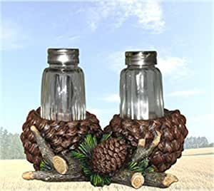 Rustic Spice Pine Cone Salt & Pepper Shaker Set