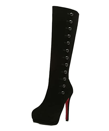the best attitude 411ca 79568 Amazon.com | Ladola Womens Platform Red Bottom Solid Spikes ...