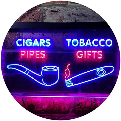 ADVPRO Cigar Pipes Tobacco Gifts Shop Dual Color LED Neon Sign Red & Blue 16 x 12 Inches st6s43-i0732-rb