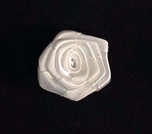 12 Piece, Radiant Swirl Rose Piece, Great For Wedding, Corsage and Crafts, White, 1.5""