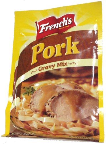French's Pork Gravy Mix-12 (TWELVE) .75oz Packets - French Pork