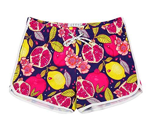APTRO Women's Floral Swim Shorts Beach Board Shorts Quick Dry Swim Trunks