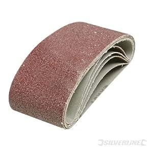 Silverline bandas de lija bandas de lija 65 mm x 410 mm 5pk 40 grano para AEG incluye 65 mm x 410 mm sanders y Black and Decker. Flexible, fabricado en aluminio duradero de lija de óxido de cinturones. Totalmente y resina.