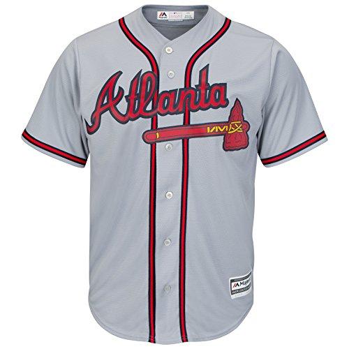 Majestic Cool Base® Jersey - MLB Atlanta Braves (3XL, Road Grey) Braves Majestic Grey Road Jersey