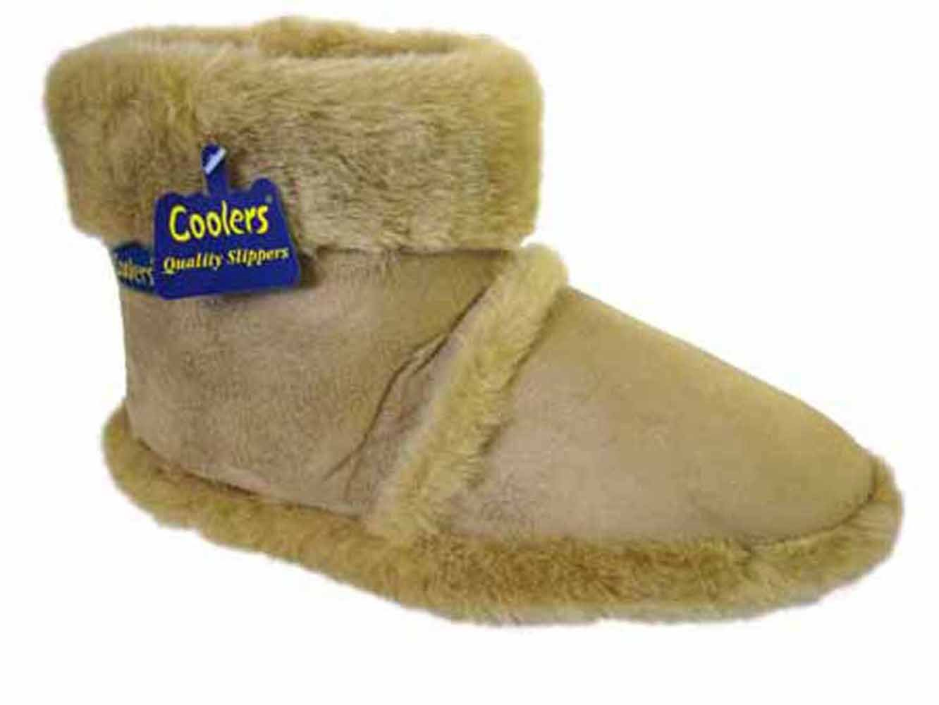 Mens Coolers Furry Ankle Boot Slippers Sizes 7 12 Amazoncouk Shoes   Bags