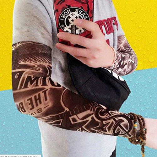 Enshey Tattoo Sleeves, Fake Tattoo Sun Arm Warmers UV Protection Sleeves for Man Women Set of 5 by Enshey (Image #6)