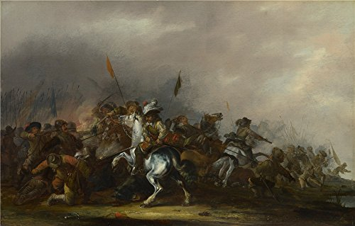 Toner Level Sensor (Oil Painting 'Jacob Weier Cavalry Attacked By Infantry', 18 x 28 inch / 46 x 72 cm , on High Definition HD canvas prints is for Gifts And Foyer, Gym And Nursery Decoration, sizes)