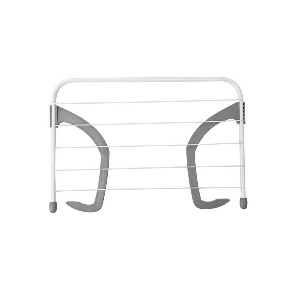 OUNONA Multifunctional Balcony Folding Clothes Drying Rack Bracket Clothesline Outdoor And Indoor Windowsill Shoes Towels Socks Underwear Sunderies Rack Hangers (Grey)