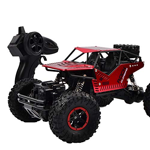 [RC Off-Road Car] 1:16 2.4GHz High Speed Remote Control Alloy 4WD Monster Buggy Crawler Off Road Car (red, 1:16)