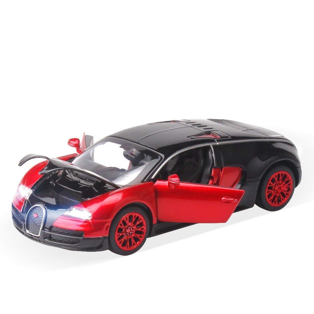 ZHMY 1:32 Bugatti Veyron Alloy Diecast car Model Collection Light&Sound (red)