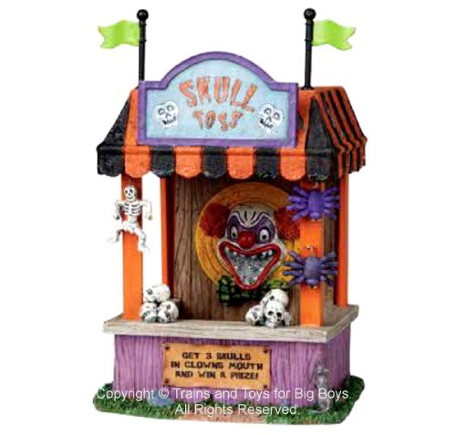 Lemax 03822 SKULL TOSS Spooky Town Table Accent Carnival Halloween Decor]()