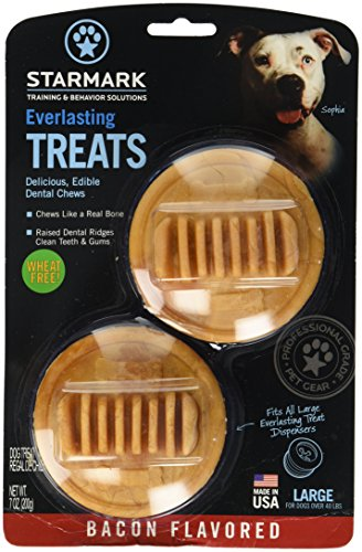 Starmark Everlasting Treats Dog Toy Treat Insert - Bacon Fla