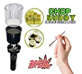 CHOP Buddy Electric Kief Catcher Grinder | Sifting Metal All Purpose Durable Brush | Smell Proof Container | Electric Herb Grinder with Steel Sift Brush Kit