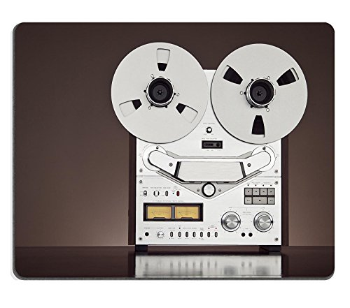 Liili Mouse Pad Natural Rubber Mousepad IMAGE ID 31916617 Analog Stereo Open Reel Tape Deck Recorder Vintage Detailed Closeup