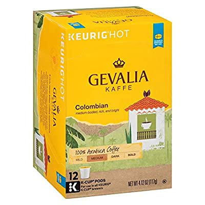 Gevalia Colombia Blend Coffee, Medium Roast, K-Cup Pods, 12 Count