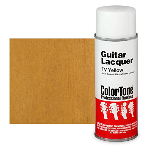 ColorTone 50s Classic Colors Aerosol Guitar Lacquer, TV Yellow - Lacquer Aerosol