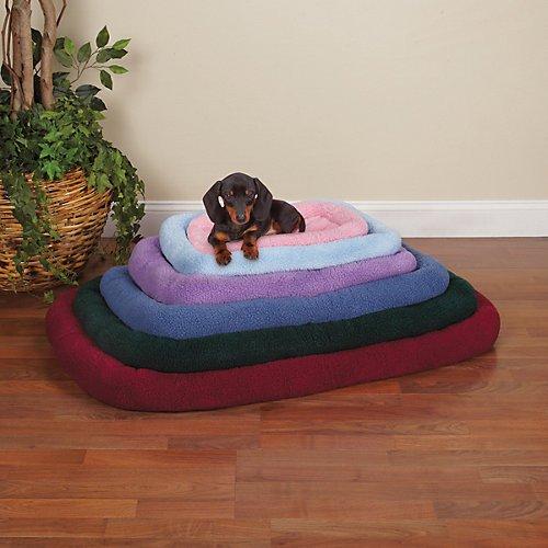 Slumber Pet Sherpa Crate Beds  -  Comfortable Bumper-Style B