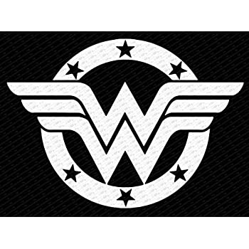 Wonder Woman Logo Black And White Pictures to Pin on ...