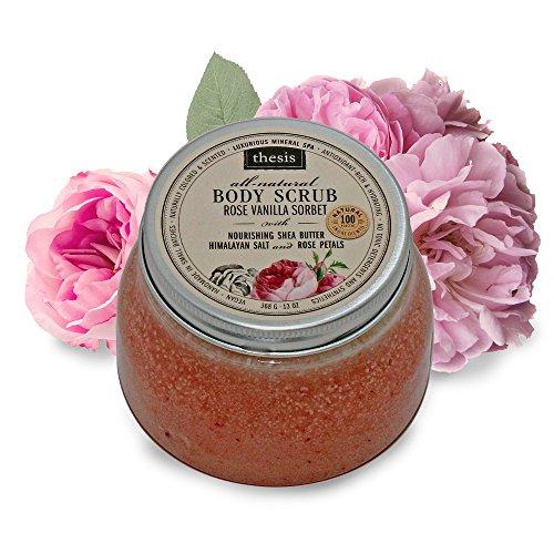 Body Scrub - Pink Himalayan Salt - Rose Vanilla Sorbet (Rose Sorbet)