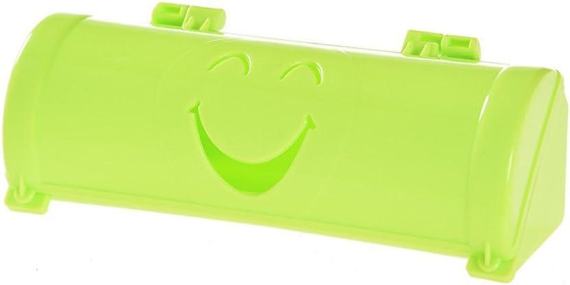 ounonaバッグホルダーディスペンサー壁マウントGarbageごみ箱バッグストレージバッグオーガナイザーボックスwith Smile Face (ピンク) As Shown グリーン L1516S3823T179PJ8KI