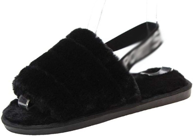 Women Furry Slippers Ladies Cute Plush