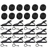 12Pc Lavalier Microphone Clip and 12Pc Microphone Cover - 5/16'' Lavalier Mic Clip with Windscreen Foam (7.5-8.5mm) Lapel & Headset Microphone Compatible for ATR-3350 Samson Nady Shure Audio-Technica