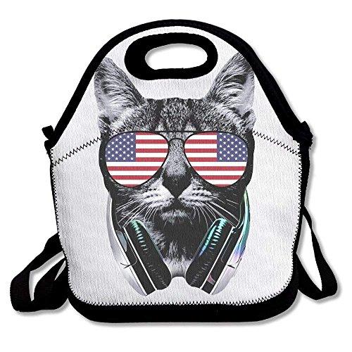 Soft Friendly Lunch Box Food Bag Gourmet Handbag Skeleton Rib Cage I Love Heart Halloween\\r\ Pouple For Girls -